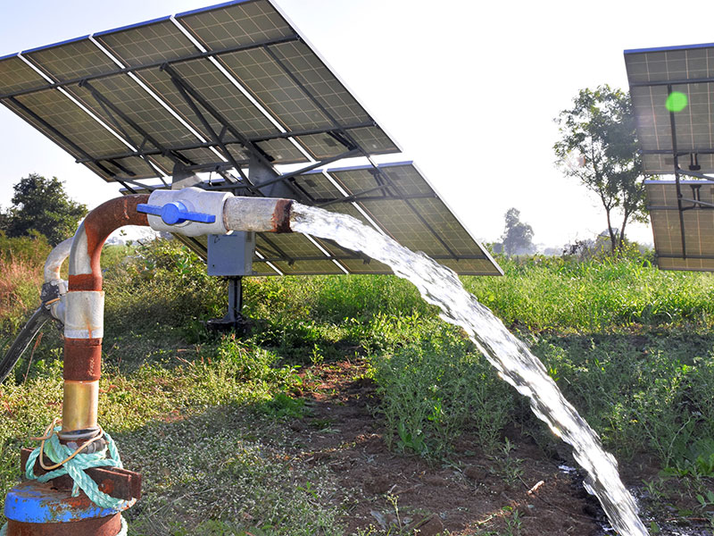 Rural water pump powered by solar