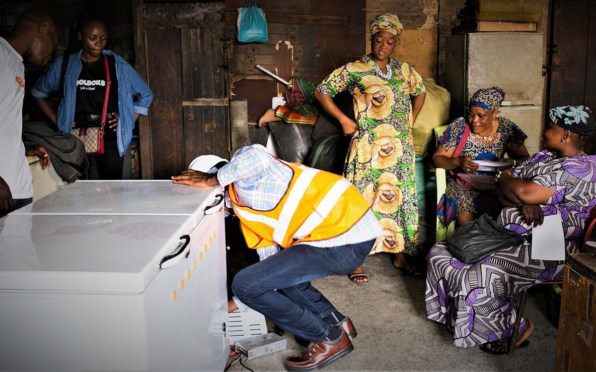 Koolboks off grid solar refrigerators for fish traders Nigeria-
